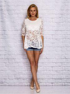 Białe bluzki damskie