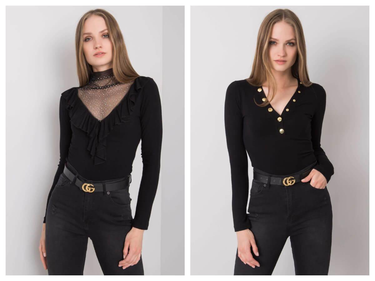 dopasowana bluzka w kolorze czarnym