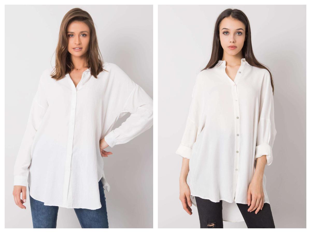 Biała klasyczna koszula do pracy oversize